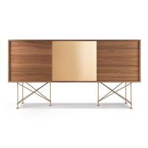 Decotique Vogue Sideboard Senkki 180h Saksanpähkinä / 2w1b / Messink