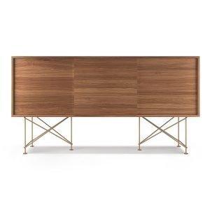 Decotique Vogue Sideboard Senkki 180h Saksanpähkinä / 3w / Messinki