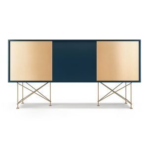 Decotique Vogue Sideboard Senkki 180h Tummansininen / 1db2b / Messinki