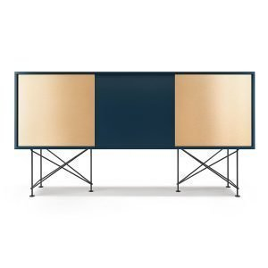 Decotique Vogue Sideboard Senkki 180h Tummansininen / 1db2b / Musta