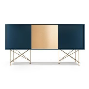 Decotique Vogue Sideboard Senkki 180h Tummansininen / 2db1b / Messinki
