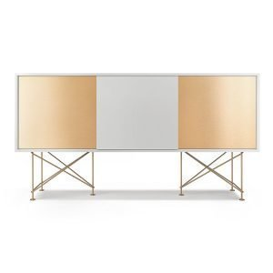 Decotique Vogue Sideboard Senkki 180h Valkoinen / 1w2b / Messinki