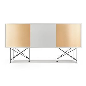 Decotique Vogue Sideboard Senkki 180h Valkoinen / 1w2b / Musta