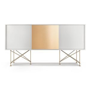 Decotique Vogue Sideboard Senkki 180h Valkoinen / 2w1b / Messinki