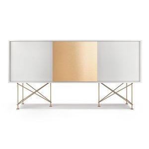 Decotique Vogue Sideboard Senkki 180h Valkoinen / 2w1b / Messinki