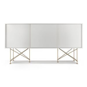 Decotique Vogue Sideboard Senkki 180h Valkoinen / 3w / Messinki