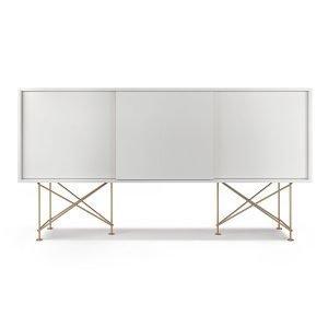 Decotique Vogue Sideboard Senkki 180h Valkoinen / 3w / Messinki