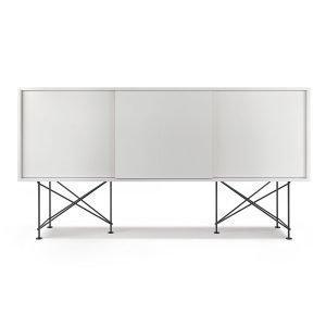 Decotique Vogue Sideboard Senkki 180h Valkoinen / 3w / Musta