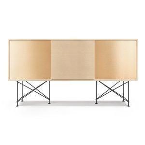 Decotique Vogue Sideboard Senkki 180h Valkoinen Tammi / 1wo2b / Musta