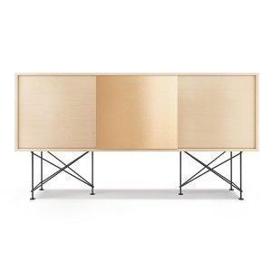 Decotique Vogue Sideboard Senkki 180h Valkoinen Tammi / 2wo1b / Musta