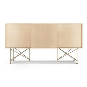 Decotique Vogue Sideboard Senkki 180h Valkoinen Tammi / 3wo / Messinki