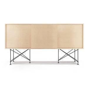 Decotique Vogue Sideboard Senkki 180h Valkoinen Tammi / 3wo / Musta