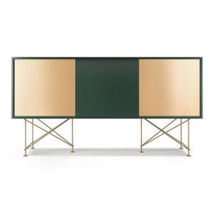 Decotique Vogue Sideboard Senkki 180h Vihreä / 1g2b / Messinki