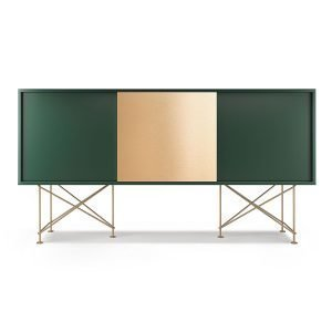 Decotique Vogue Sideboard Senkki 180h Vihreä / 2g1b / Messinki