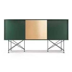 Decotique Vogue Sideboard Senkki 180h Vihreä / 2g1b / Musta