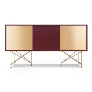Decotique Vogue Sideboard Senkki 180h Viininpunainen / 1wr2b / Messi