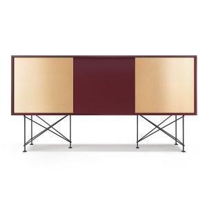 Decotique Vogue Sideboard Senkki 180h Viininpunainen / 1wr2b / Musta