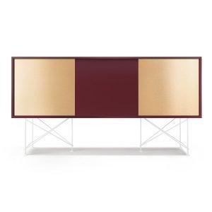 Decotique Vogue Sideboard Senkki 180h Viininpunainen / 1wr2b / Valkoinen