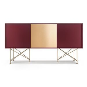 Decotique Vogue Sideboard Senkki 180h Viininpunainen / 2wr1b / Messi
