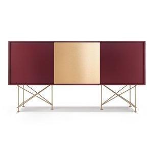 Decotique Vogue Sideboard Senkki 180h Viininpunainen / 2wr1b / Messi