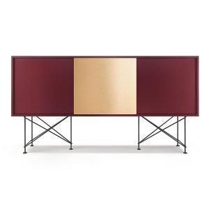 Decotique Vogue Sideboard Senkki 180h Viininpunainen / 2wr1b / Musta