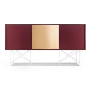 Decotique Vogue Sideboard Senkki 180h Viininpunainen / 2wr1b / Valkoinen