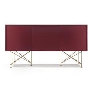 Decotique Vogue Sideboard Senkki 180h Viininpunainen / 3wr / Messink