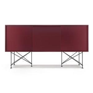 Decotique Vogue Sideboard Senkki 180h Viininpunainen / 3wr / Musta