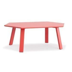 Department Hexagon Pöytä Punainen / Tammi 105x60 Cm