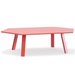 Department Hexagon Pöytä Punainen / Tammi 135x78 Cm