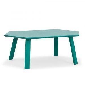 Department Hexagon Pöytä Vihreä / Tammi 105x60 Cm