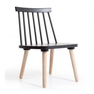 Department Wood H19 Lounge Tuoli Musta / Tammi