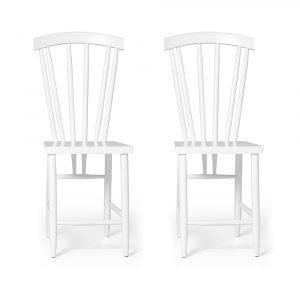 Design House Stockholm Family Chair No. 3 Tuoli Valkoinen 2-Pakkaus