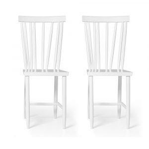 Design House Stockholm Family Chair No. 4 Tuoli Valkoinen 2-Pakkaus