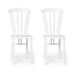 Design House Stockholm Family Chairs No3 Tuoli Valkoinen 2-Pakkaus