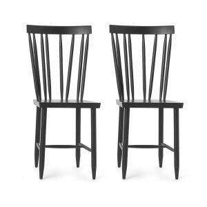 Design House Stockholm Family Chairs No4 Tuoli Musta 2-Pakkaus