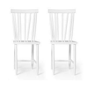 Design House Stockholm Family Chairs No4 Tuoli Valkoinen 2-Pakkaus
