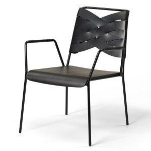 Design House Stockholm Torso Lounge Tuoli Musta / Musta