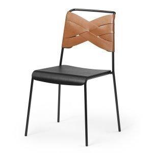 Design House Stockholm Torso Tuoli Black / Cognac