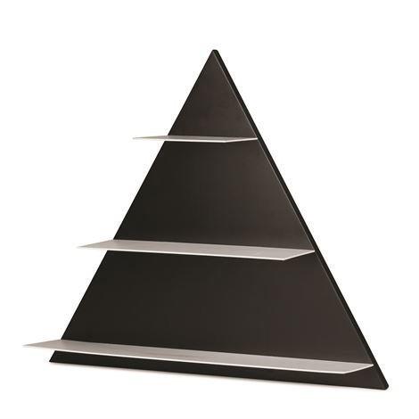 Design Letters Hylly Triangle Musta