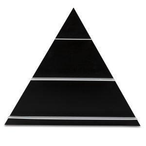 Design Letters Paper Shelf Triangular Hylly Musta