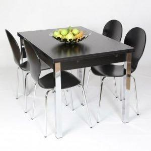 Designa Jatkettava Ruokapöytä 80x120-187 Cm Musta