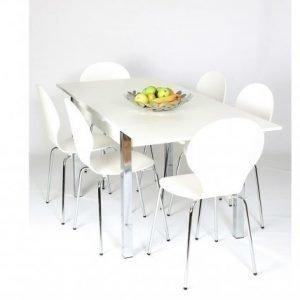 Designa Jatkettava Ruokapöytä 80x120-187 Cm Valkoinen