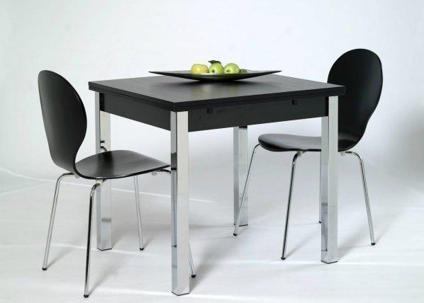 Designa Jatkettava Ruokapöytä 80x80-147 Cm Musta