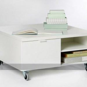 Designa Sohvapöytä Pyörillä 80x80 Cm