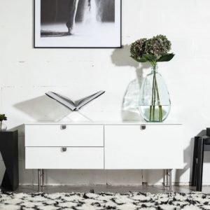 Donegan TV-Taso 120 Valkoinen/Teräs