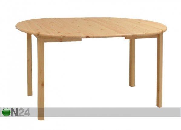 Ec Jatkettava Ruokapöytä Mänty 100x100-180 Cm