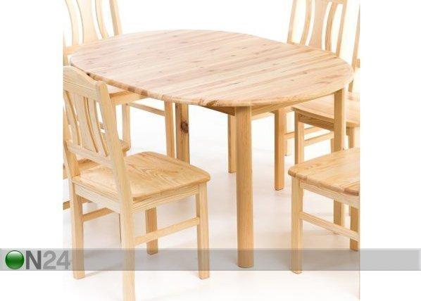 Eco Jatkettava Ruokapöytä Mänty 100x100-140 Cm