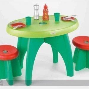 Ecoiffier Puutarhapöytä Ja 2 Tuolia Ecoiffier