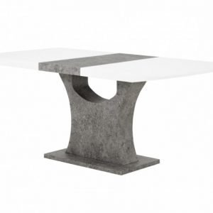 Ella Jatkettava pöytä 140 Valkoinen/Betoni